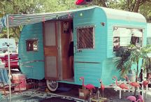 Vintage RV Fun / Who doesn't daydream about finding the perfect retro camper and decorating it to match? Fun to see the creativity! / by Lori Philo-Cook