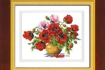 cross-stitch: flowers / by Svetlana Davidova