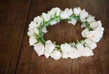 Flower Crowns / Flowers to wear - flower crowns, head wreaths, flower halos / by Dandie Andie Floral Designs
