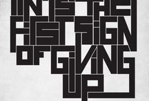 // Typography / by Claire Duprat