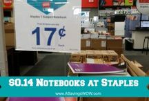 2014 Back to School Deals / Find HOT deals on school supplies, meals, and other things to prepare you for getting ready for the new school year. / by A Savings WOW!