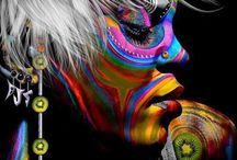 Body/Face painting art / by Carla Van Galen