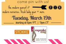 The Modern Parent  / Stokke + cupcakeMAG are hosting a Pinterest Party with some of our favorite fabulous bloggers to bring you a night of pin-spiration! We are gearing up to inspire the modern parent with fresh baby gear, our favorite Stokke products, modern nurseries + more!! Join the fun and be entered to win a Stokke MyCarrier too! see the details --> cupcakeMAGLittles.com / by cupcakeMAG