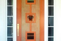Modern Doors for Traditional Home / My search for a modern (or mid mod) looking door that won't look out of place on our traditional, brick home. / by Vickie Howell