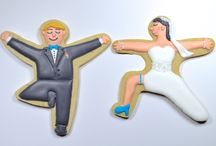 Yoga Wedding / Yummi Yogi™ Yoga Pose Cookie Cutters are a wonderful way for the bride to not only share her love of yoga and inner balance, but also to have beautifully unique table markers, card table display, dessert selection, and even a practical wedding favor that their guests will actually use!  / by Yummi Yogi