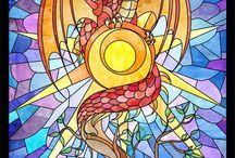 Tranh Kính Màu / Các sản phẩm tranh kính Anh Duy Stained Glass được đảm bảo chất lượng và sự tỉ mỉ trong khi sáng tác, các sản phẩm thiết kế luôn mang một phong cách, một nét riêng nhưng vẫn giữ được tính chất của Stained Glass. / by Tranh Kính Màu Vẽ