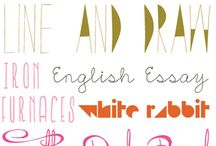 Fonts and printables / by Jenni Khoury