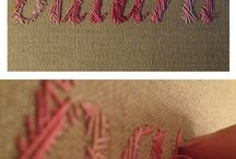 Embroidery Fonts / by K
