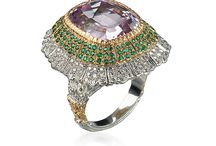 Buccellati Cocktail Rings / Cocktail Rings brilliantly evoke the height of glory of 1920s America. Amethyst, topaz, garnet and tanzanite shine in fantastic and glittering settings, a feast for the eyes.  / by Buccellati
