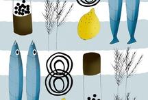 fishes make wishes / fishes everywhere - in art, your kitchen, wardrobe, just look around... / by Bozena Wojtaszek