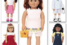 American Girl Sewing Patterns / My niece asked me to sew matching dresses for she and her American Girl doll. This board catalogues patterns I found on line for 18 inch dolls / by Renee Cidell