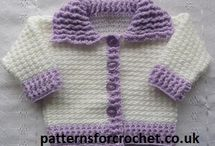 CROCHET BABY SWEATER SETS & JACKETS, PONCHOS  / by Mary-Elaine Harris