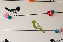 Stencilling on Fabric Project Inspiration / by Sew Creative / Crystal Allen