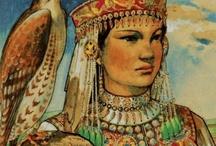 """Hon / """"Bújt az üldözött, s felé Kard nyúl barlangjában, Szerte nézett s nem lelé Honját a hazában, Bércre hág és völgybe száll, Bú 's kétség mellette, Vérözön lábainál, 'S lángtenger felette."""" .........Kölcsey Ferenc: Hymnus (Cseke, 1823. január 22.) / by József Czudor"""