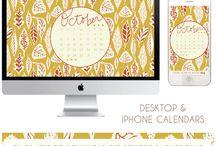 Free Desktop & iPhone Calendars / by Fab N' Free