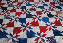 Quilts Red White and Blue / by Linda Christie