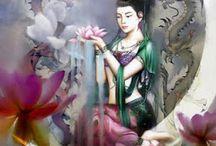 Kuan Yin / La Diosa de la Misericordia, sanadora de almas y una de las guías de mi camino / by Carolina Concha