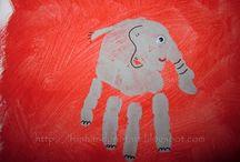 handprint crafts / by Elizabeth Vernon