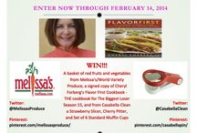 Pin It to Win It Contests! / Check out these great contests to win amazing prizes!  / by Cheryl Forberg - Chef Nutritionist Advisor
