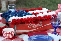 red white and blue / by Sara