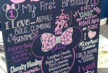 Shilah's First Birthday! / Shilah is turning one this October! We are planning a Minnie Mouse themed birthday! / by Cassie Justice