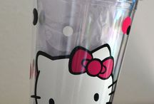 Hello kitty plastic cups / by Kitty White
