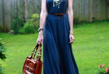 Fashion | maxi dress / I love maxi dresses and skirts, here are some I can use for inspiration / by Lelie