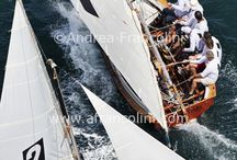 Historic 18ft skiffs / Some aerial work on a nice windy day with 20-28 knots of wind - love it / by Andrea Francolini