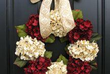 pretty door wreaths / by melinda ray