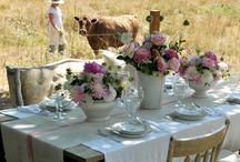 "Outdoor rooms / by Christie Repasy Designs~ ""Chateau de Fleurs"""