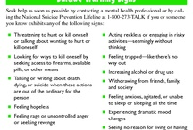 suicide prevention / by Gail Pollard: Social Work Services