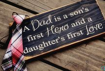 Crafts for dad from the kids / by Cassandra Allen