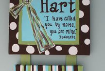 Baby Hospital door hangers\ / by Teri Graham