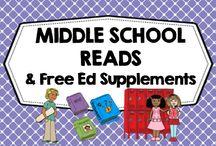 Middle School Reads and Free Educational Supplements / Free supplemental teaching resources and book recommendations only. Middle grades, educational. Photos of covers and products in use make the best pins, please do not pin the tiny covers from online stores, and no photos only. Thank you. / by Carolyn Wilhelm, NBCT, Wise Owl Factory