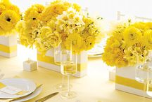 Yellow Wedding Inspiration / Hello Sunshine!  Yellow is modern, fun and fresh, and is one of the most hip color schemes when paired with grey or navy! / by Madeline's Weddings & Events