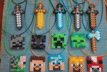 Arts and crafts / Minecraft inspired necklaces / by Lyndsey 180