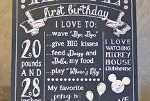 First birthday / by Erica G.O.