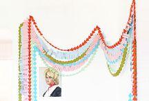 * GARLANDs / Garlands, buntings and streamers. Strings of things. Mostly horizontal hangings.  / by Debidee