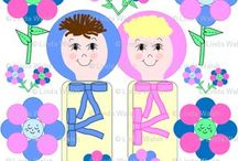 Linda Walsh Originals New Swaddling Baby Heads Custom Fabric Designs / by Debbie Keskula Bohringer
