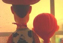 My Toy Story <3 / Woody + Bo Peep = :)                                     Buzz + Jessie = <3 / by Clara Grismer