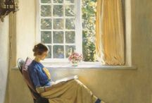 Reading in art / by Margo Gauthier