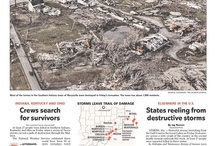 Newspaper front pages / by Evansville Courier & Press features Evansville, Ind.