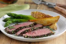 Rosemary - Garlic rubbed steak / by Marcy Box
