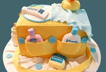 Shower Them With Cake: Girl / Baby girls shower cakes. / by Satin Ice