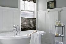 Downstairs bathroom - greys / by Teresa Smith