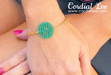Monogrammed Jewelry / Our beautiful collection of engraved jewelry has something for everyone on your list. Necklaces, Bracelets, Earrings, Rings & More!  / by Cordial Lee
