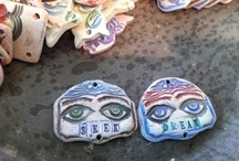 Artistic endeavors/My work / My work in all its various forms. Jewelry. Collage. Ceramics. Shrines. Tiles. Mixed Media / by Jenny Davies-Reazor