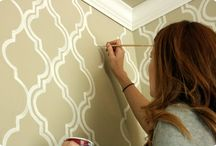 handpainted: wall treatment / by Amanda Andrews