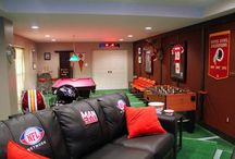 """""""Fan"""" Caves / What does your ultimate """"fan"""" cave look like? How would you decorate your dream game watching room? You don't have to be a man to have a great """"fan"""" cave! / by FansEdge"""