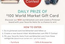Worldmarket.com PIN IT Contest / by Kacie Phillips